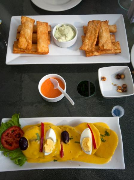 Wonderful Peruvian appetizers
