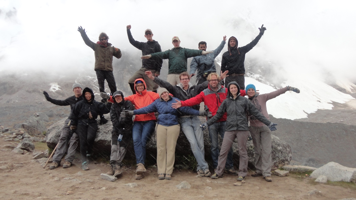 My group and I at the top