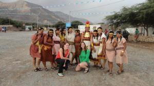 Anna and I at a small Inka festival