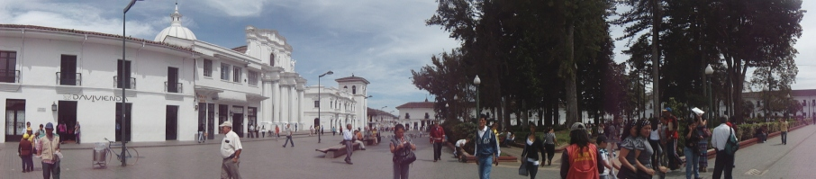 Main plaza in Popayan, Colombia