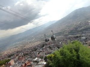 Cable cars over Medellin