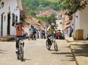 Mountain biking through Barichara