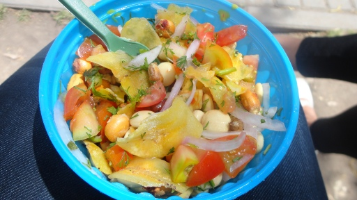 Corn Ceviche in Quito