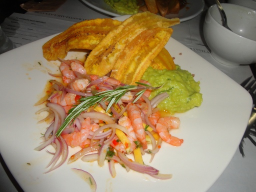 Shrimp dish in Cartagena, Colombia