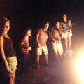 bonfire in San Blas