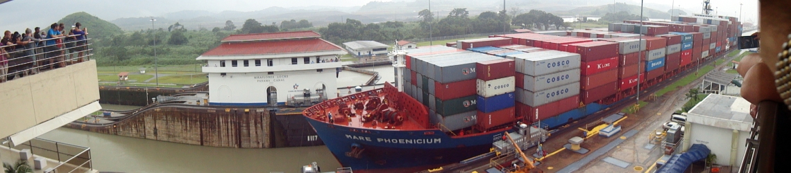 The Panama Canal in action