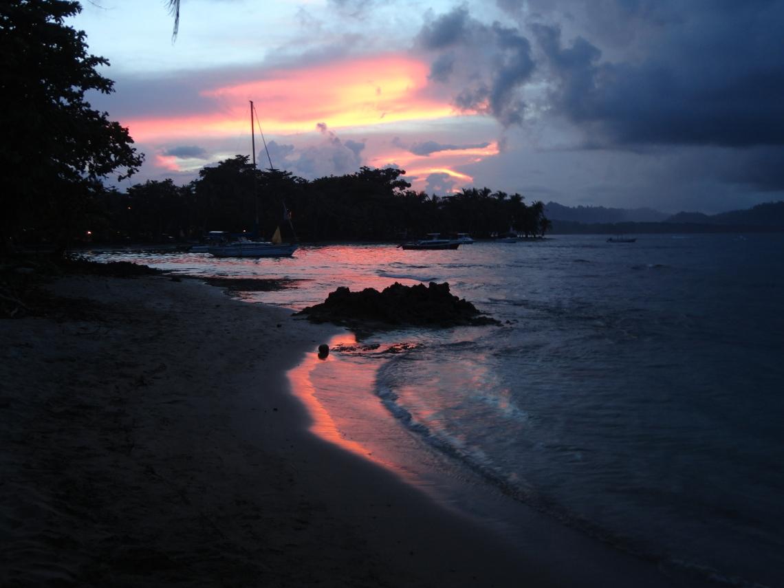 Sunset in Puerto Viejo