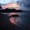 Sunset in Puerto Viejo