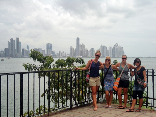 Exploring Panama City with friends from Holland, Hungary and Korea
