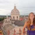 Taking in the views of Granada from a cathedral tower