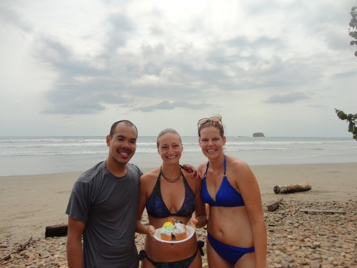 Celebrating my 26th on the beach in San Juan del Sur with some new friends
