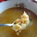 Tasty coconut conch soup