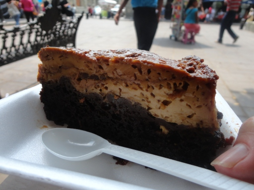 Chocolate flan in Oaxaca