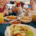 Valentines Day fish tacos on Isla Mujeres