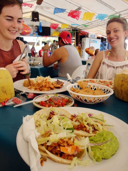 Valentines Day fish tacos on Isla Mujeres