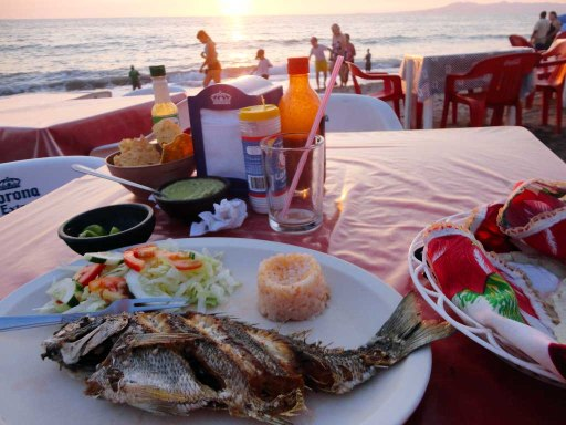 Fish & sunset in Puerto Vallarta