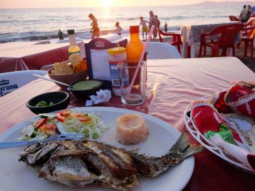 Fish & sunset in Puerto Vallarta