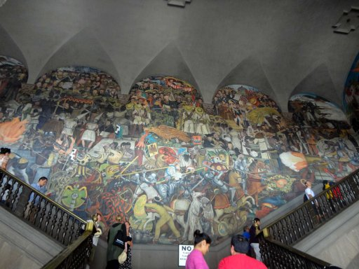 The murals of Diego Rivera; Mexico City