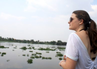 Looking out onto the Saigon River