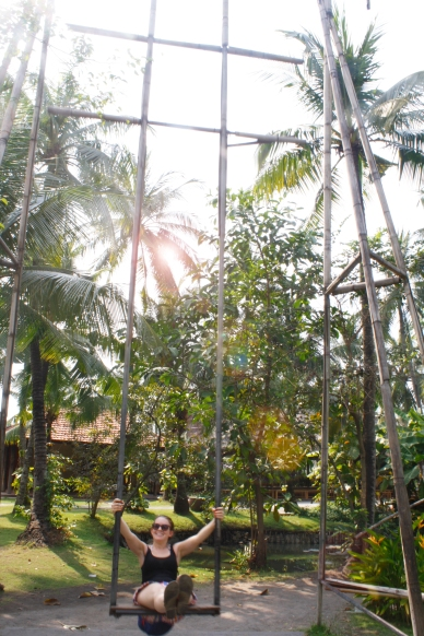 Swinging under the palms at Binh Quoi