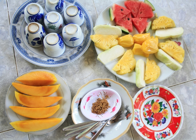 A regional sampling of Vietnamese tropical fruits