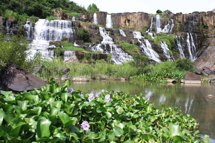 Stunning waterfall outside Dalat