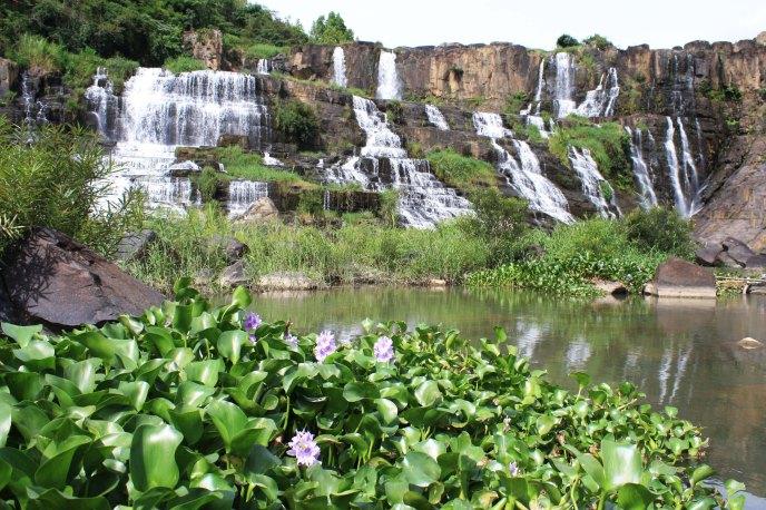 Stunning waterfall outside Dalat