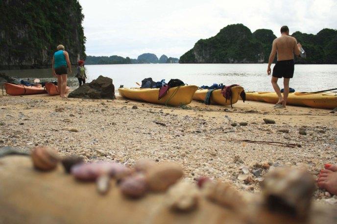Beach stop, Ha Long Bay, Vietnam
