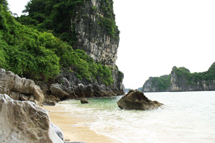 Private Beach, Ha Long Bay, Vietnam