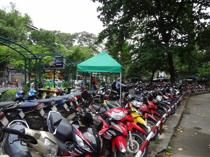 Motorbike parking, Saigon