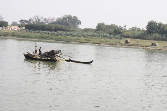 Cool old boats on the Ayarwaddy River