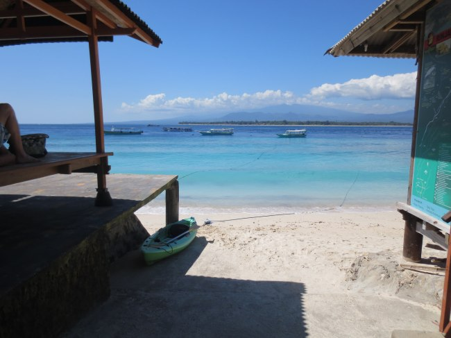 The postcard perfect waters of the Gili Islands