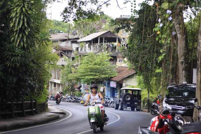 The streets of Ubud, Bali